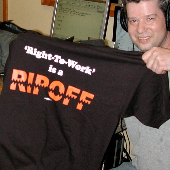 right to work is a ripoff  shirts available now!